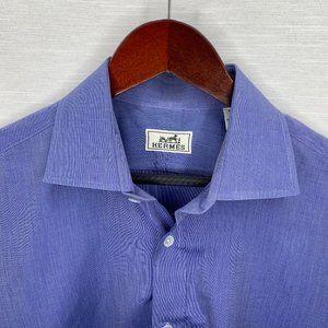 HERMES light blue shirt size 40 15 3/4 dress shirt